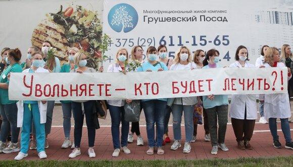 Medikų protestas Minske
