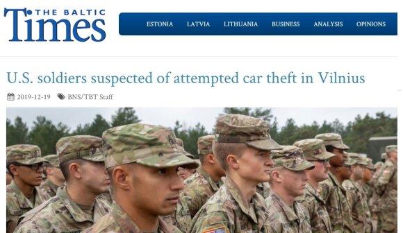 Sukčiai platina melagingą naujieną apie Vilniuje nusikaltusius JAV karius
