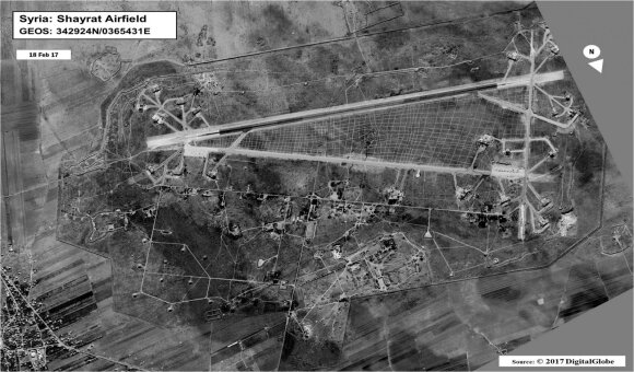 AL Šairato oro pajėgų bazė vasario mėnesį