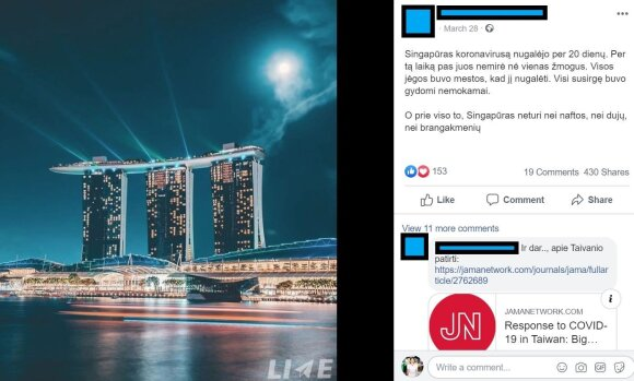 """Facebook"" išplatinta melaginga žinutė"
