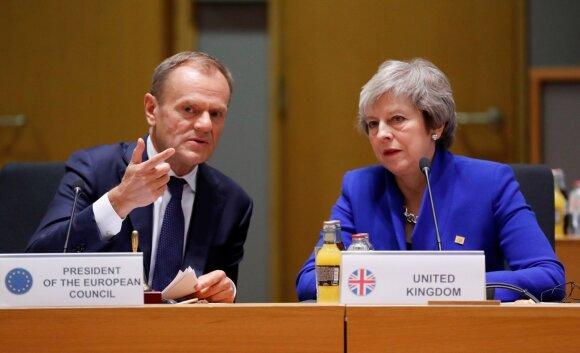 Donaldas Tuskas, Theresa May