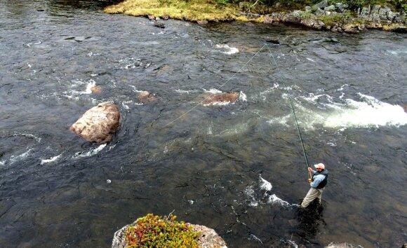 Žvejybos akimirka