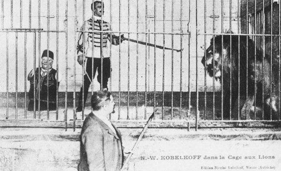 Nikolajus Kobelkovas be baimės užeidavo į narvą su liūtu