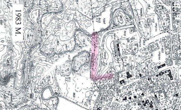 1983 metų žemėlapis
