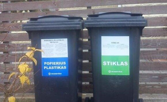 Dalijami konteineriai