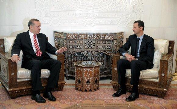 Recep Tayyip Erdogan ir Bashar al Assad