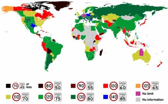 Limit prędkości w państwach