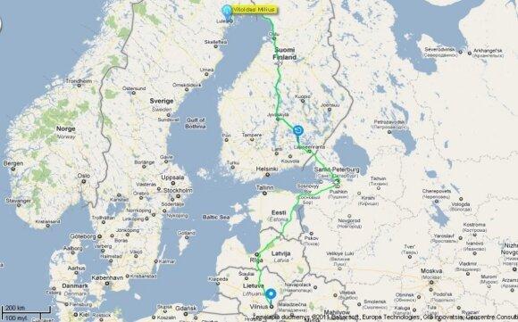 Nuvažiuotas atstumas iki liepos 7 d., 9 val. (Duomenis pateikia Altas)