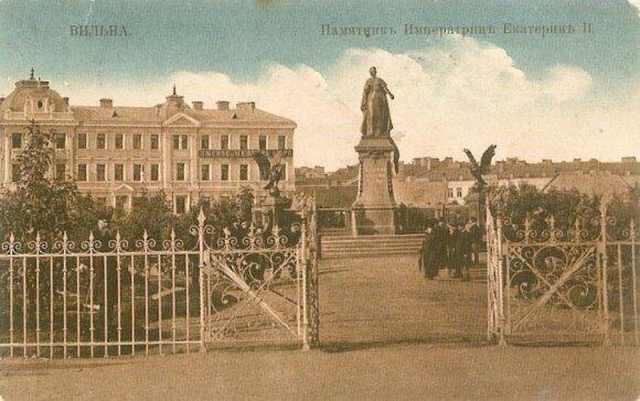 Памятник Екатерине II в Вильнюсе