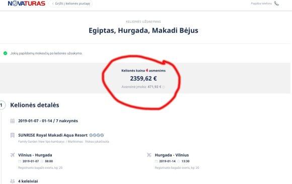 Palygino kelionių organizatorių pasiūlymus: poilsis ten pat, o kainų skirtumas – 400 eurų