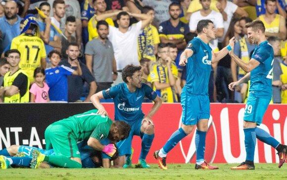 """UEFA Europos lyga: """"Zenit"""" sukūrė stebuklą, o """"Man United"""" su J. Mourinho vėl pralaimėjo"""