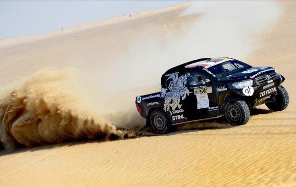 Po pirmos dienos Dubajaus Baja lenktynėse Benediktas Vanagas penktas