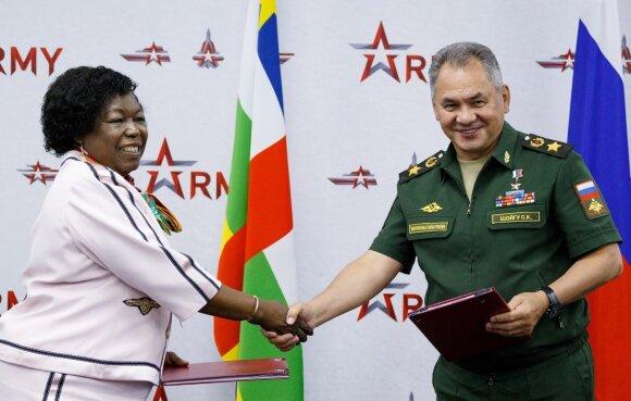 CAR gynybos ministrė Marie-Noelle Koyara susitinka su Sergėjumi Šoigu