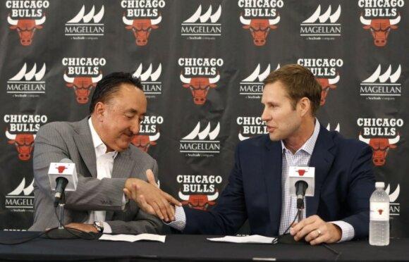 """D. Wade'o ir """"Bulls"""" karas: išdavystės, purvini žaidimai ir artėjanti kulminacija"""