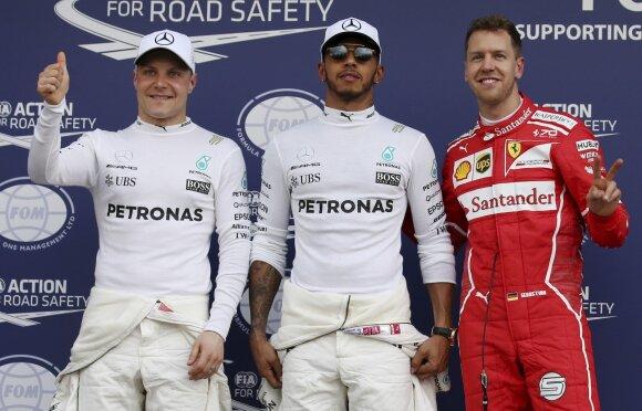 Valtteri Bottas, Lewisas Hamiltonas ir Sebastianas Vettelis