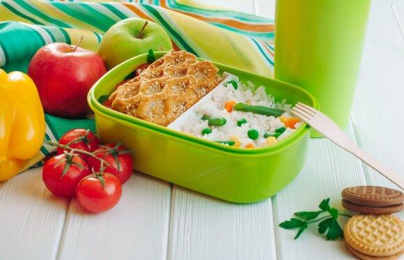 Daržovės, ryžiai ir bandelė: vieni angliavandeniai