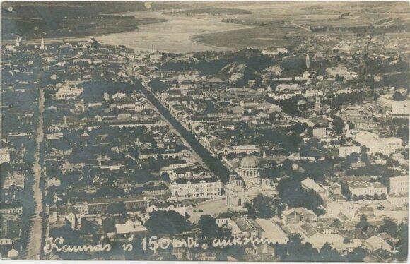 Kaunas iš 150 m. aukščio // Kauno apskrities viešosios bibliotekos nuotr.