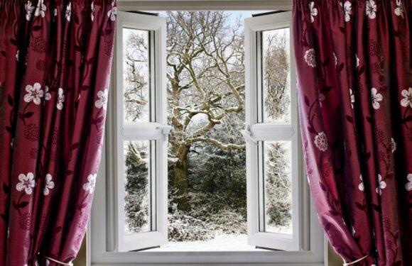 Plačiai atverti langą 5 minutėms - ekonomiškiau nei laikyti vos pravertą ilgą laiką