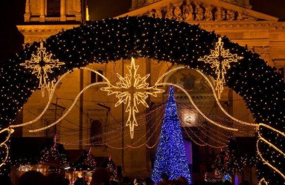 Kalėdų eglutė Budapešte, Vengrijoje
