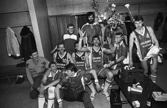 """""""Žalgirio"""" krepšininkai, Arvydas Sabonis, R. Požerskio nuotr."""