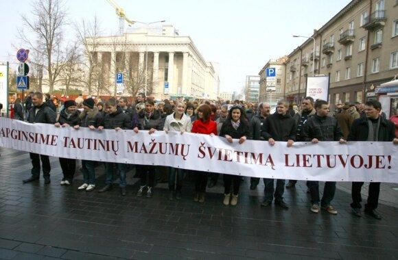 На митинг поляков против Закона об образовании собралось более 3000 человек