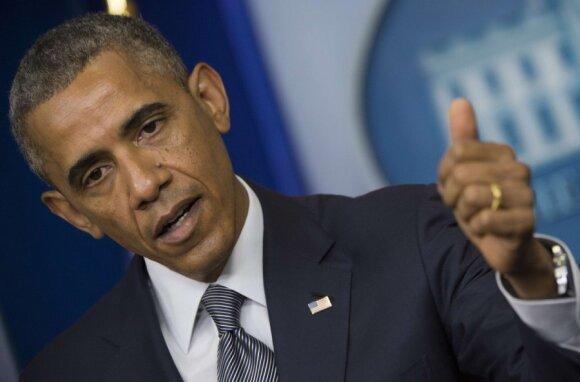 Barackas Obama surengė spaudos konferenciją dėl lėktuvo katastrofos