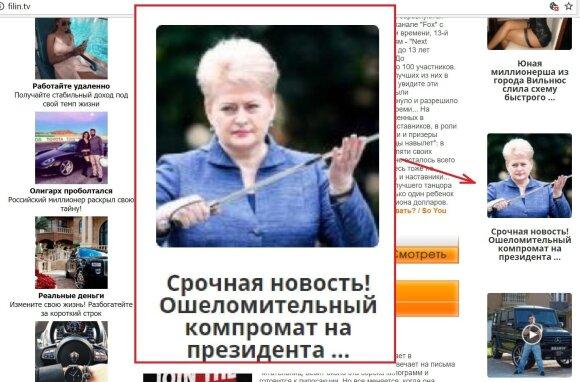 Grybauskaitė tapo naujos schemos taikiniu: vienas paspaudimas gali pridaryti daug bėdų