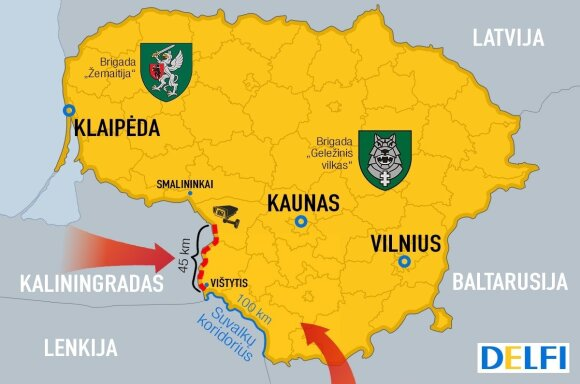 Slapti kariniai pajėgumai Baltijos šalių pasienyje: šiame žaidime Lietuva turi savų siurprizų