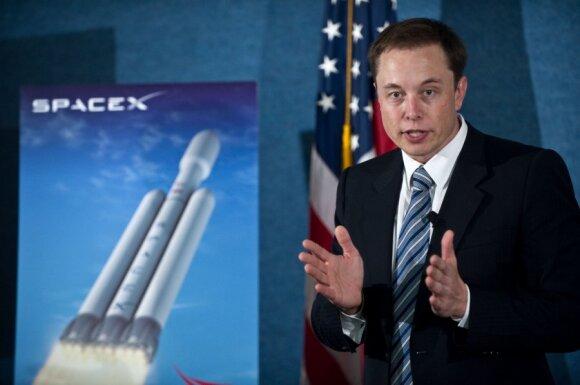 """""""SpaceX"""" generalinis direktorius Elonas Muskas"""