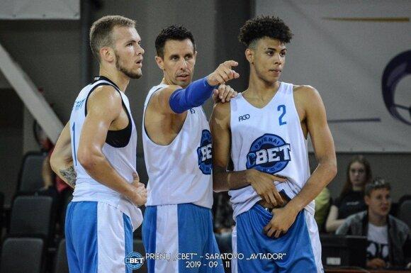 (iš kairės) Arnas Velička, Mindaugas Lukauskis, Tomas Digbeu (Foto: bcprienai.lt)