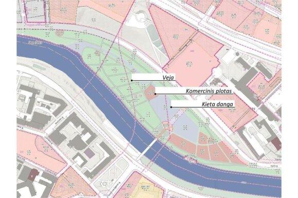 10 pav. Ištrauka iš Vilniaus teminių žemėlapių (patvirtinti ir rengiami detalieji planai)