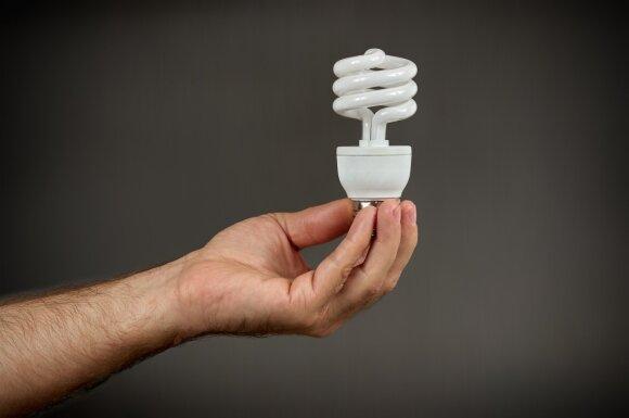 Kompaktinės fluorescencinės lemputės (CFL), kuriose yra gyvsidabrio.