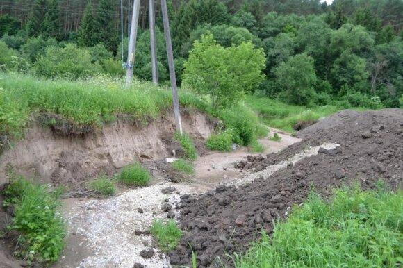Sklypo teritorija praūžus potvyniui