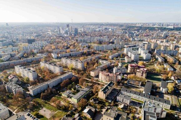 Liaupsinamas Vilniaus mikrorajonas, kuriame būstą gali įpirkti ne visi: kainos – beveik kaip Senamiestyje