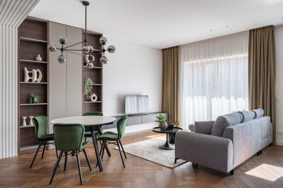 Modernus trijų kambarių butas (Vaidoto Darulio nuotr.)