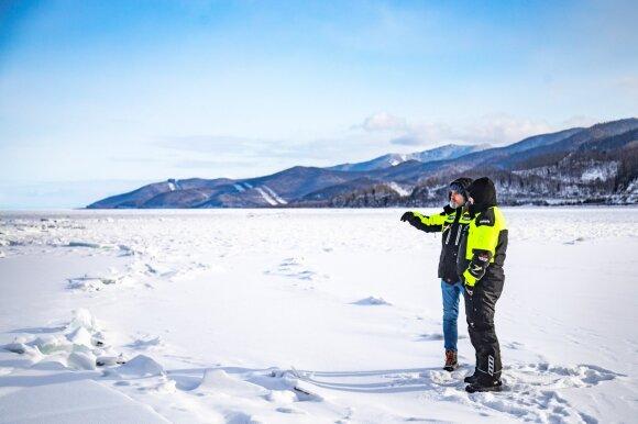 Karolis Mieliauskas pradeda Baikalo iššūkį: motociklu važiuos giliausio ežero ledu
