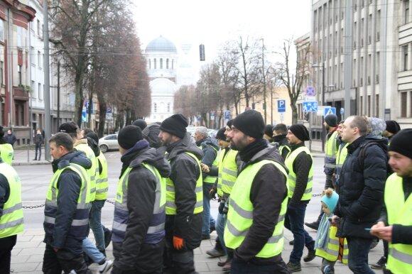 Profesinių sąjungų protesto eitynės Kaune