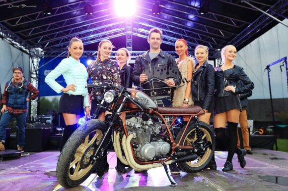 "Best Cafe Racer – 1983 m. Kawasaki KZ750. Autorius ""Vilnius Moto House"", Vilnius"