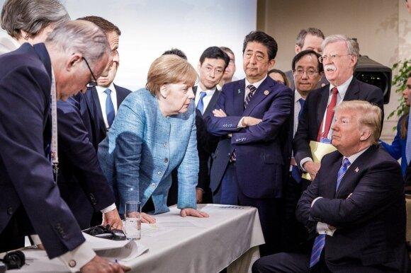 Angela Merkel, Donaldas Trumpas ir kiti G-7 lyderiai