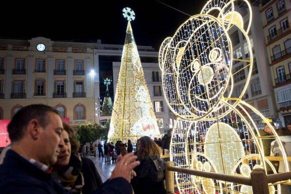 Kalėdų eglė Malagoje