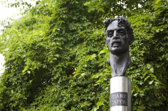 Frank Zappa monument in Vilnius