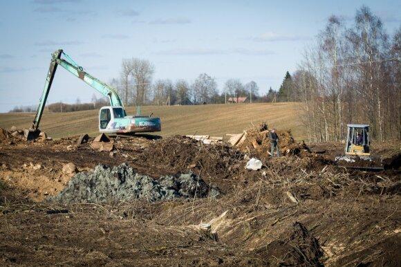 melioravimas,aplinka,statybos,laukai,ekskavatorius,aplinkosauga,melioracija,kasa