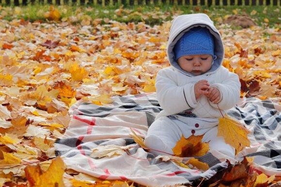 Vaikai rudenį