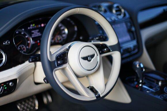 """""""Bentley Bentayga"""" salone viskas apgalvota ir pagaminta kruopščiai"""