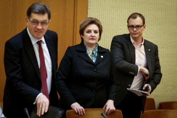 Algirdas Butkevičius, Loreta Graužinienė ir Mantvydas Bekešius