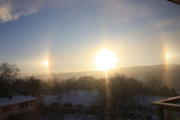 Žvarbią žiemą – nuostabūs skaitytojų užfiksuoti vaizdai
