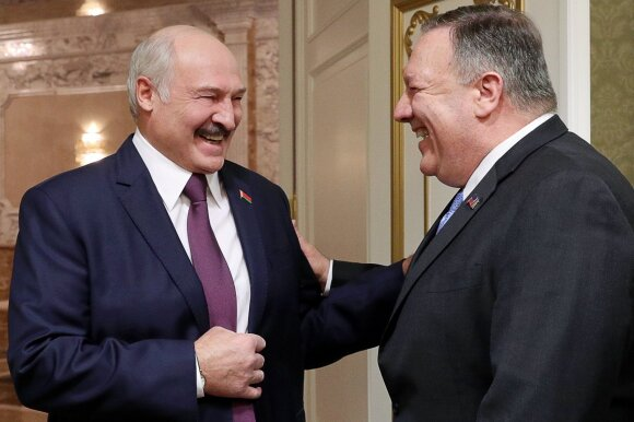 Aleksandras Lukašenka, Mike'as Pompeo