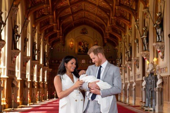 Meghan Markle, princas Harry ir jų sūnus