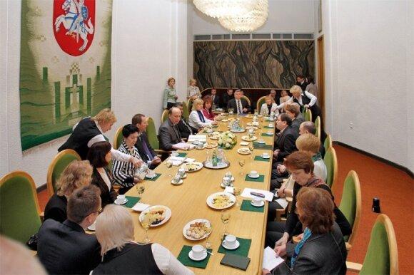 Встреча Совета нацобщин с премьером Андрюсом Кубилюсом