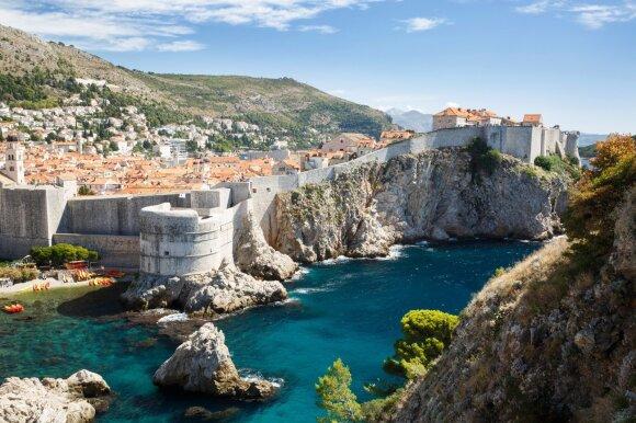Senojo Kroatijos miesto sienos